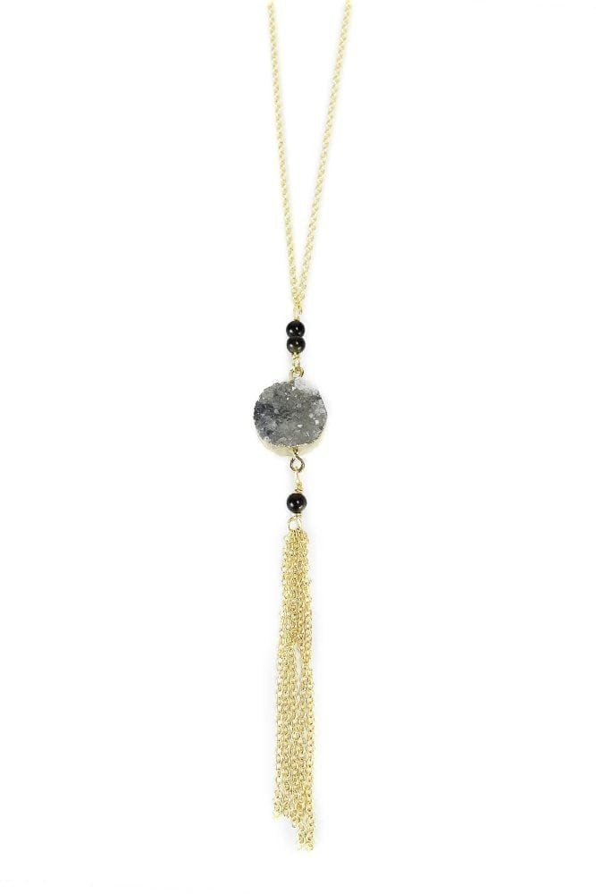Druzy Pregnancy Necklace