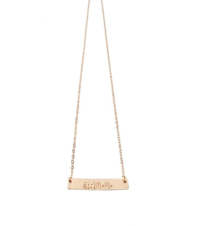 Rose Gold Girl Mama Necklace
