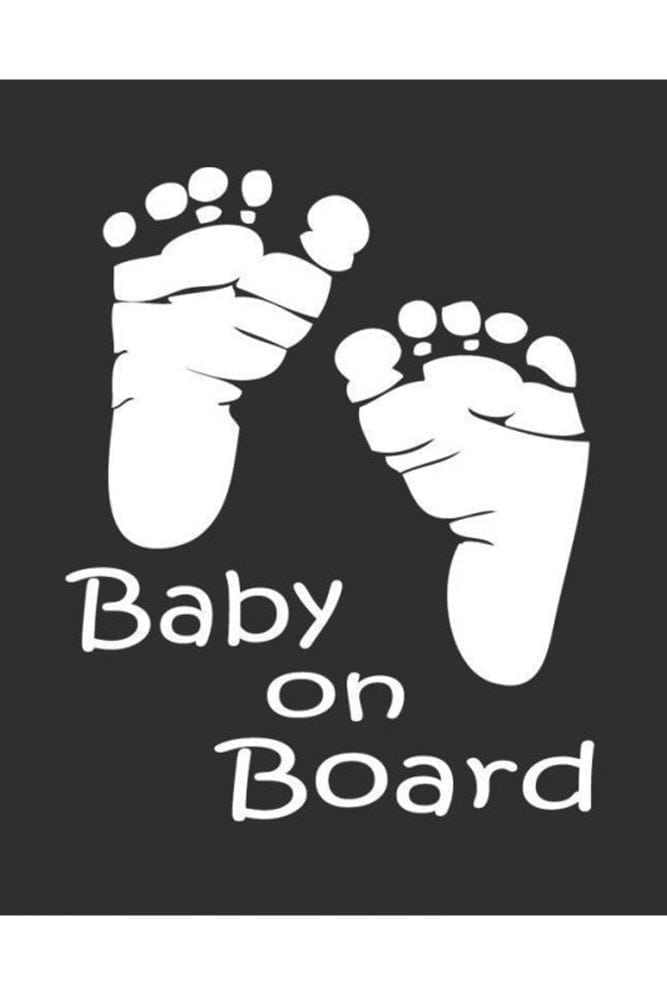 Baby Footprint Car Decal
