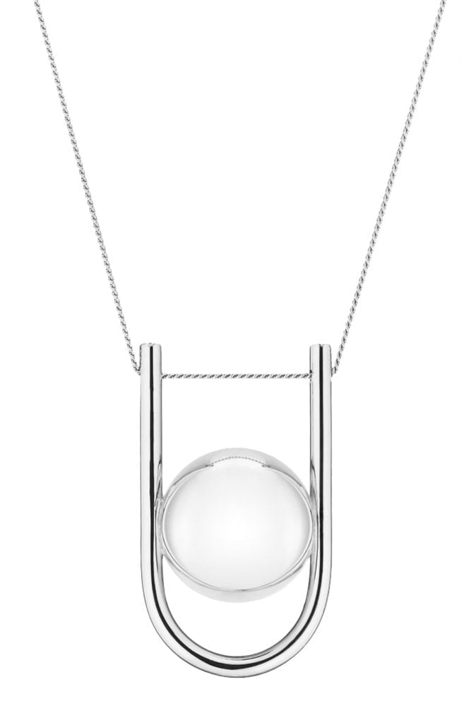 U-Shaped Pregnancy Chime Necklace - 18 Carat Silver