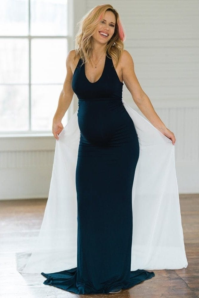 maternity photoshoot gown