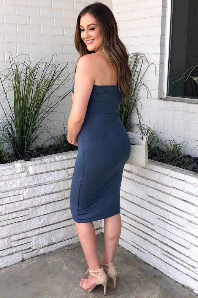 tube top maternity dress